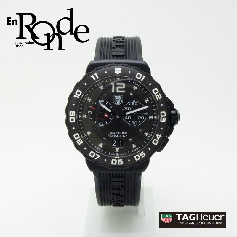 タグホイヤー メンズ腕時計 フォーミュラ1 WAU111D SS(ステンレス)/ラバー 黒文字盤 中古