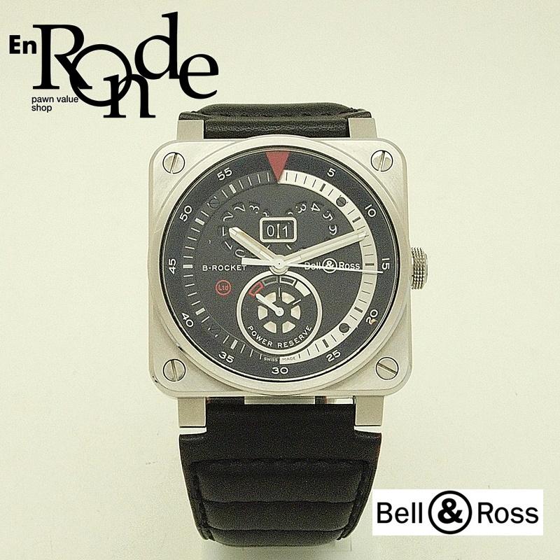 ベルアンドロス メンズ腕時計 BR03-90-S B-ROCKET BR03-90-S SS(ステンレス)/革 黒文字盤 中古