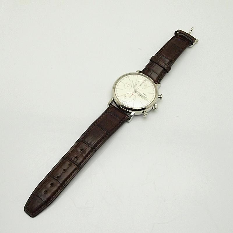 http://IWC アイダブルシーメンズ腕時計%20ポートフィノ クロノグラフ%20IW391007%20ステンレス/革%20シルバー文字盤%20中古%20新入荷