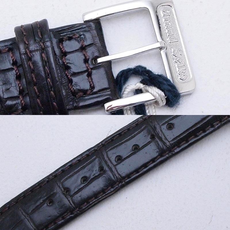 セイコー メンズ時計 グランドセイコー SBGW003 SS/革 ホワイト文字盤 中古