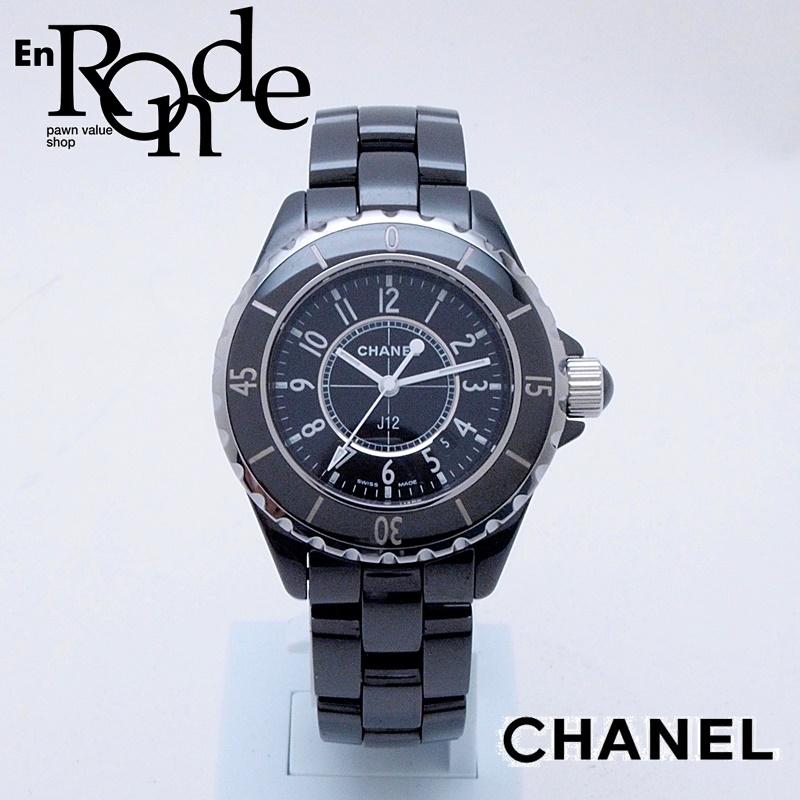 brand new f8843 3812f シャネル CHANEL レディース腕時計 J12 H0682 セラミック 黒文字 ...