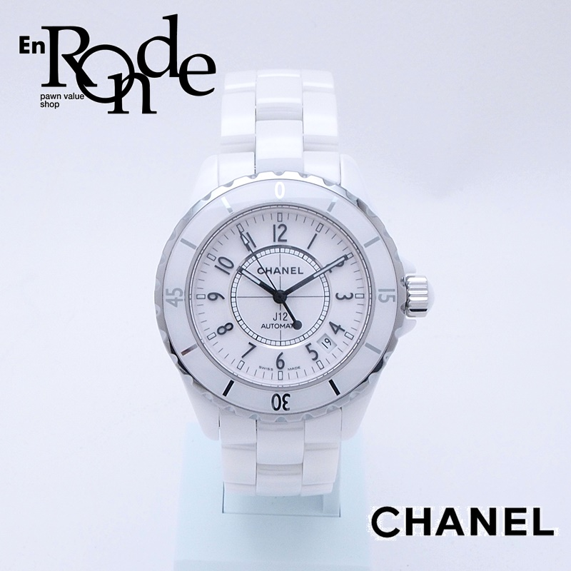 timeless design 1757f c8abe シャネル CHANEL メンズ腕時計 シャネル J12 H0970 ホワイト ...