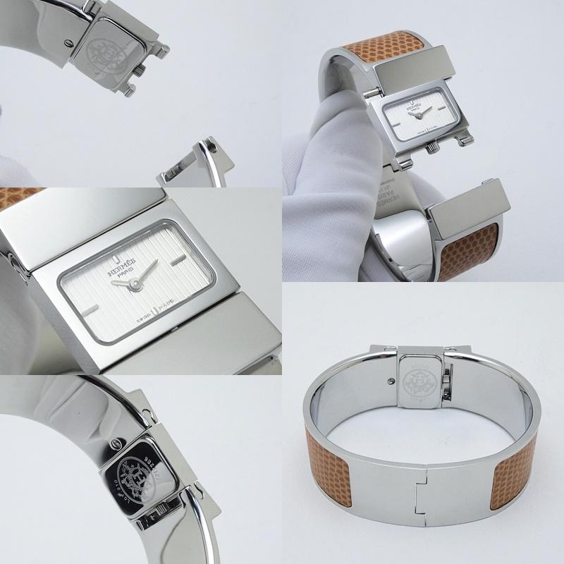http://エルメス%20HERMES%20レディース腕時計%20ロケ%20LO1210%20SS(ステンレス)/リザード%20白文字盤%20中古