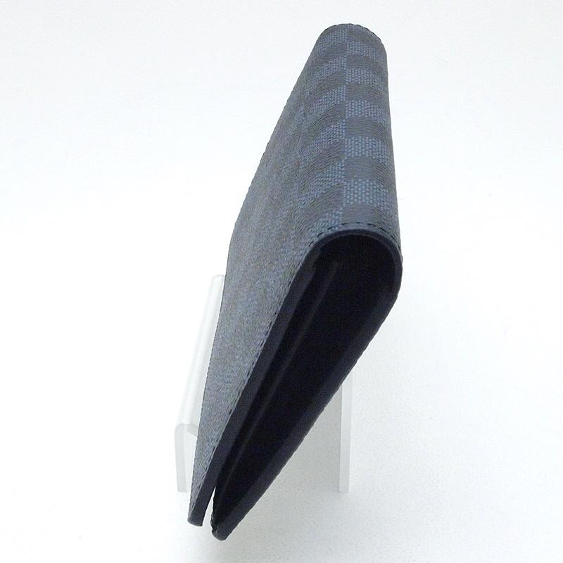 ルイ・ヴィトン LOUISVUITTON 長財布 ブラザ N63212 コーティングレザー ダミエ コバルト 中古 おすすめ