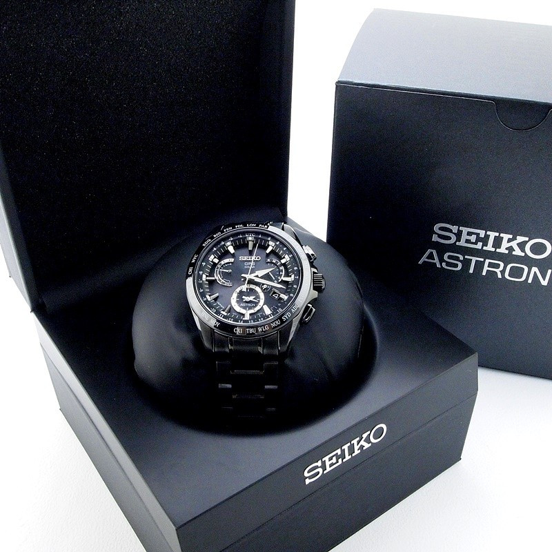 セイコー メンズ腕時計 アストロン 8X53-OABO-2 チタン/セラミック 黒文字盤 未使用品