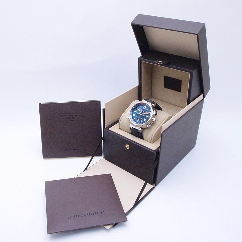 http://ルイ・ヴィトン%20LOUISVUITTON%20メンズ腕時計%20タンブール レガッタクロノ%20Q102D%20SS/ラバー%20ネイビー文字盤%20中古%20新入荷
