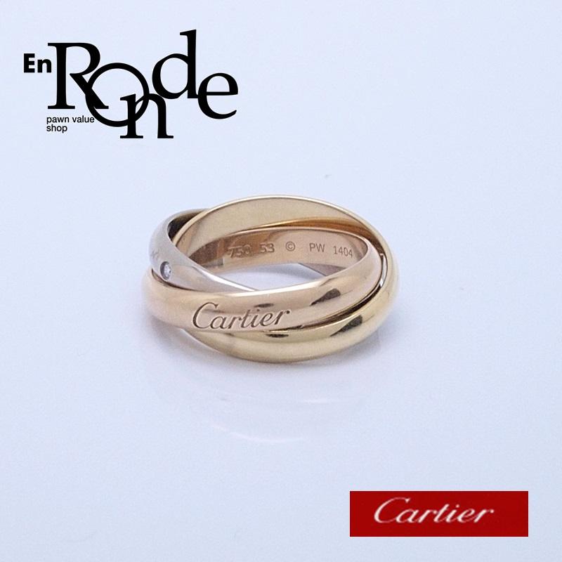 カルティエ Cartier 指輪リング トリニティリング K18/5PD スリーゴールド 中古 新入荷 おすすめ