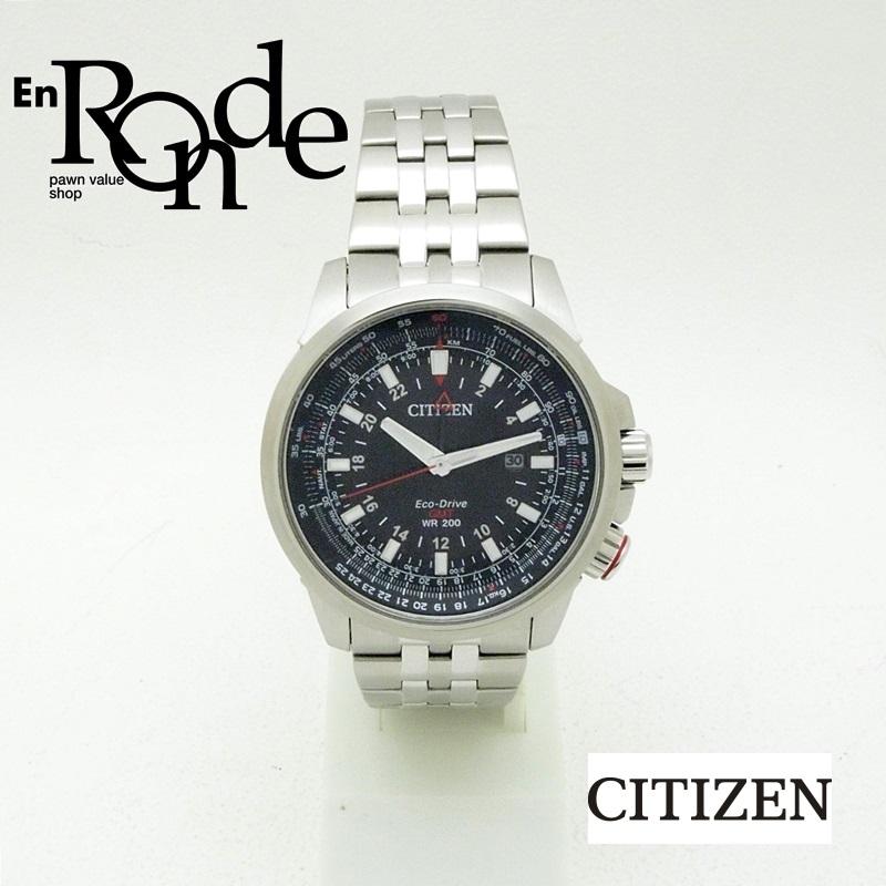 シチズン メンズ腕時計 プロマスター GMT B877-R005651 SS(ステンレス) ブラック文字盤 中古 新入荷