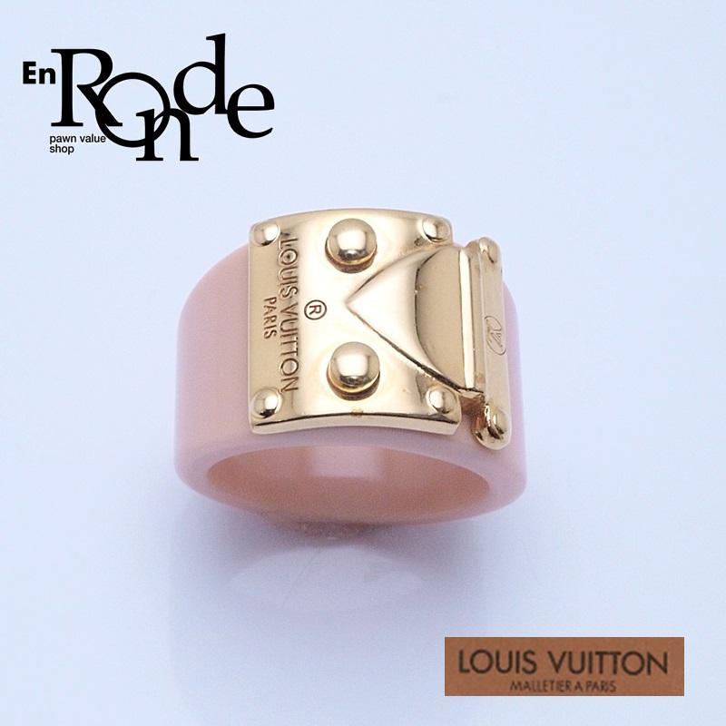 ルイ・ヴィトン LOUISVUITTON アクセサリー ロックミーリング M66845 プラスチック/GP金具 ゴールド/ピンク 中古