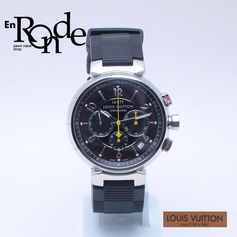 ルイ・ヴィトン LOUISVUITTON メンズ腕時計 タンブール Q1141 SS/ラバー ブラウン文字盤 中古 新入荷 おすすめ