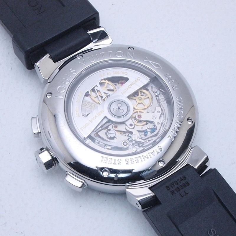 http://ルイ・ヴィトン%20LOUISVUITTON%20メンズ腕時計%20タンブール%20Q1141%20SS/ラバー%20ブラウン文字盤%20中古%20新入荷%20おすすめ