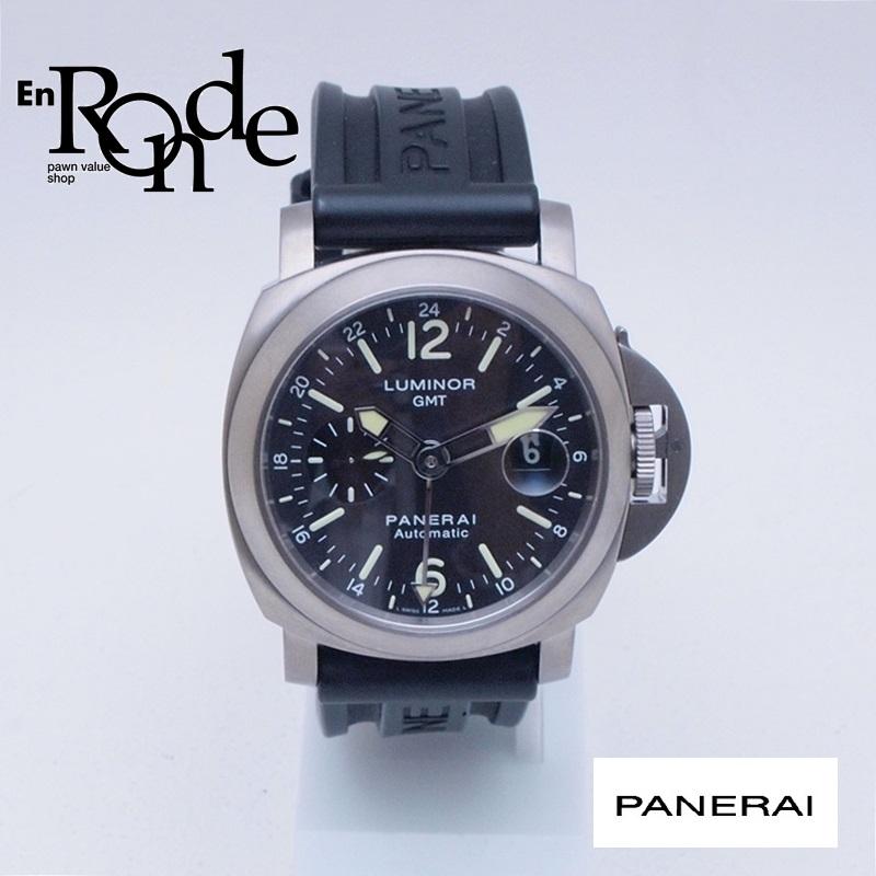 パネライ メンズ腕時計 ルミノールGMT PAM00089 Ti(チタン)/ラバー ブラック文字盤 中古 新入荷 おすすめ 新着