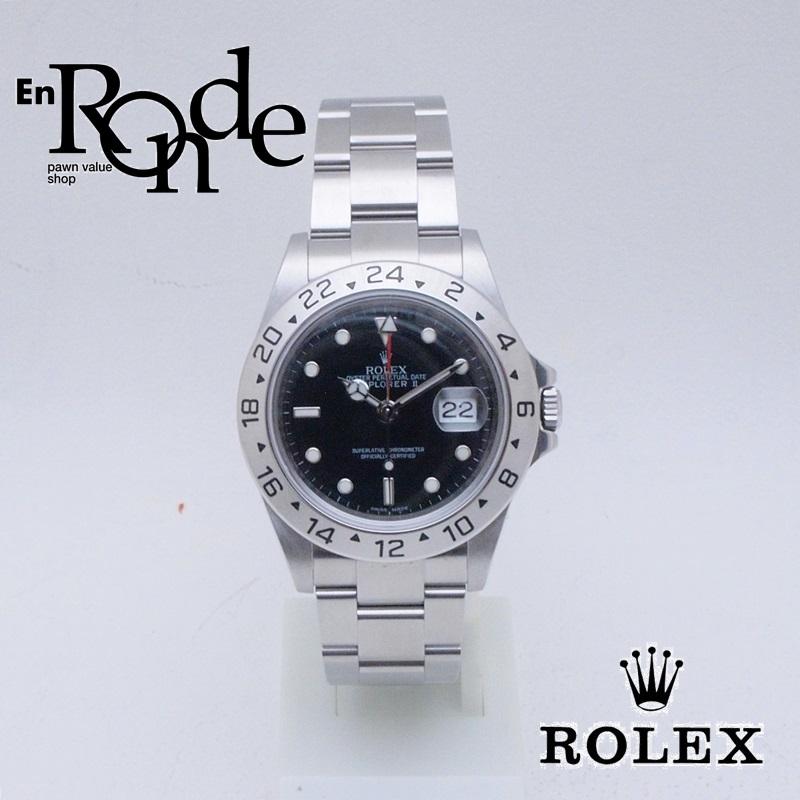 ロレックス ROLEX メンズ腕時計 エクスプローラー1 16570 SS(ステンレス) ブラック文字盤 中古 新入荷