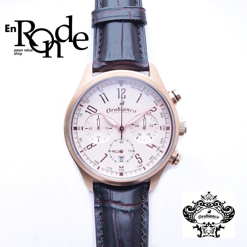 オロビアンコ メンズ腕時計  タキメトロ OR-0021N PGP/革 ブラウン文字盤 中古 新入荷