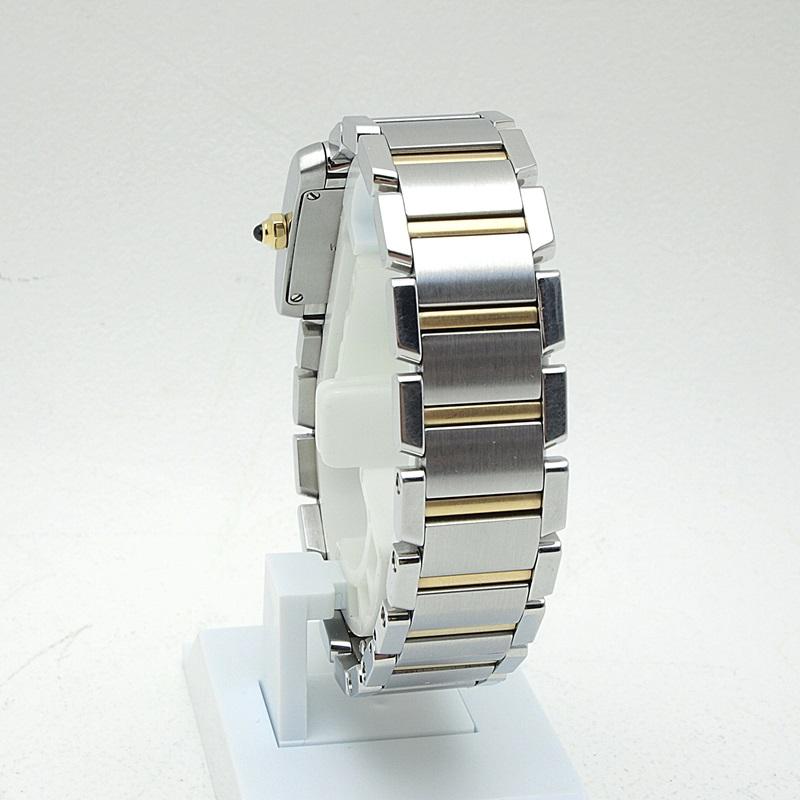 http://カルティエ%20Cartier%20レディース腕時計%20タンクフランセーズSM%20W51007Q4%20SS/K18%20ホワイト文字盤%20中古%20新入荷