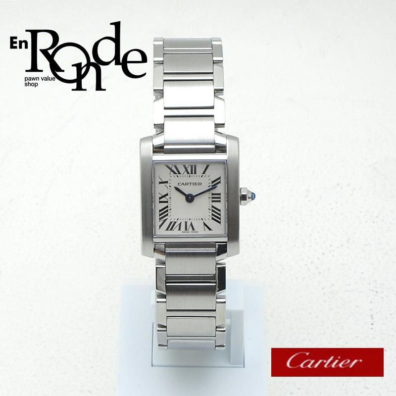 カルティエ Cartier レディース腕時計 タンクフランセーズSM W51008Q3 SS(ステンレス) アイボリー文字盤