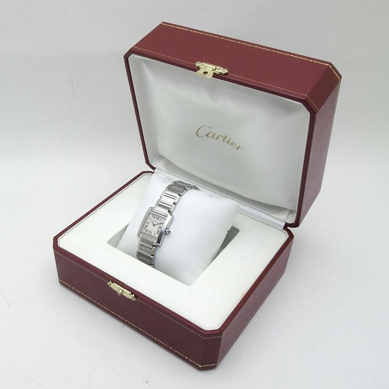 http://カルティエ%20Cartier%20レディース腕時計%20タンクフランセーズSM%20W51008Q3%20SS(ステンレス)%20アイボリー文字盤