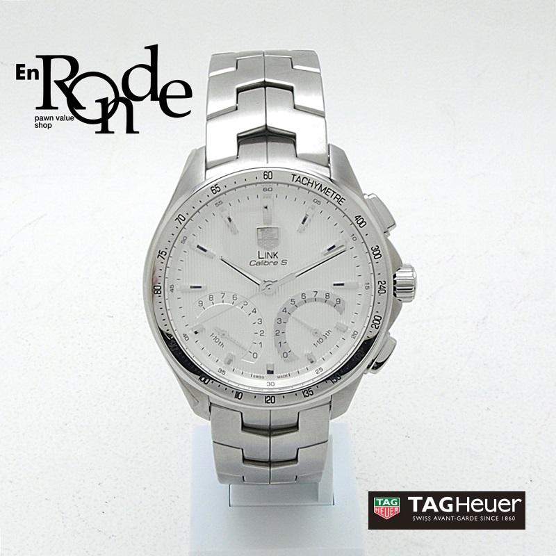 タグホイヤー メンズ腕時計 リンク キャリバーS CAT7011 SS(ステンレス) ホワイト文字盤 中古 新入荷