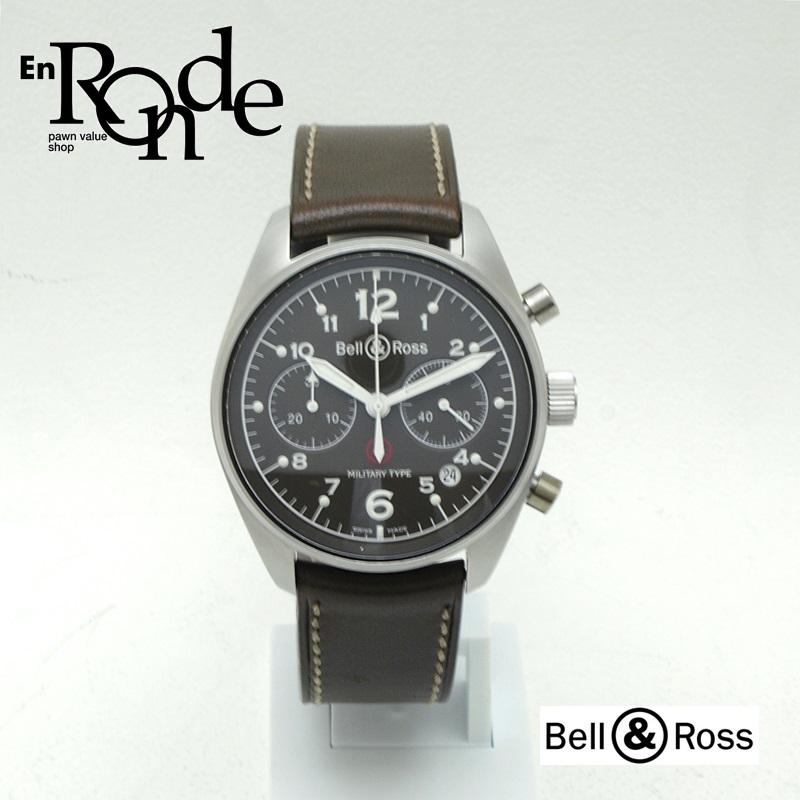 ベル&ロス メンズ腕時計  ミリタリー SS(ステンレス)/革 ブラック文字盤 中古 新入荷