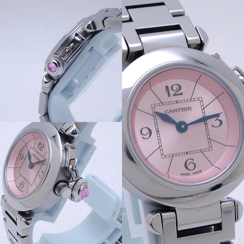 http://カルティエ%20Cartier%20レディース腕時計%20ミスパシャ%20SS%20ピンク文字盤%20中古%20新入荷%20おすすめ