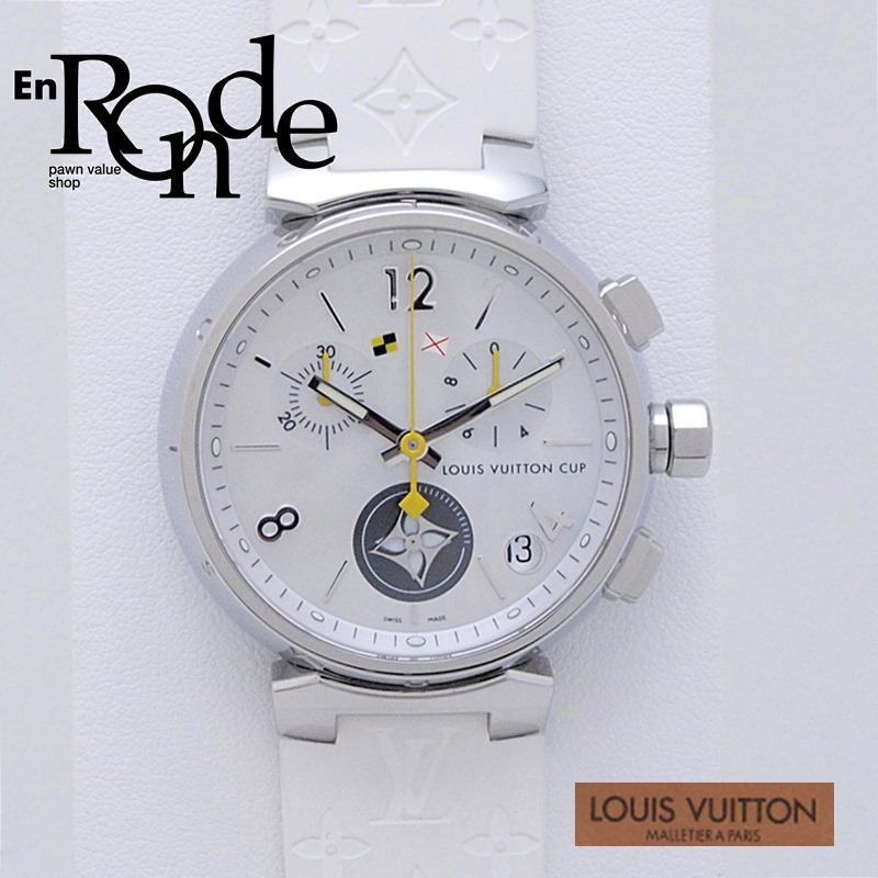 ルイ・ヴィトン LOUISVUITTON メンズ腕時計 タンブール Q11BA SS(ステンレス)/ラバー シェル文字盤 中古 新入荷 おすすめ
