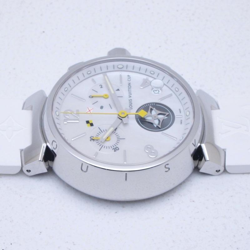 http://ルイ・ヴィトン%20LOUISVUITTON%20メンズ腕時計%20タンブール%20Q11BA%20SS(ステンレス)/ラバー%20シェル文字盤%20中古%20新入荷%20おすすめ