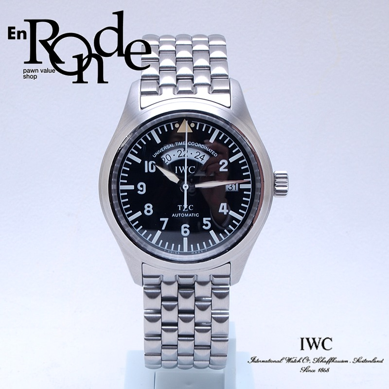 IWC メンズ腕時計 フリーガー SS ブラック文字盤 中古 新入荷 おすすめ