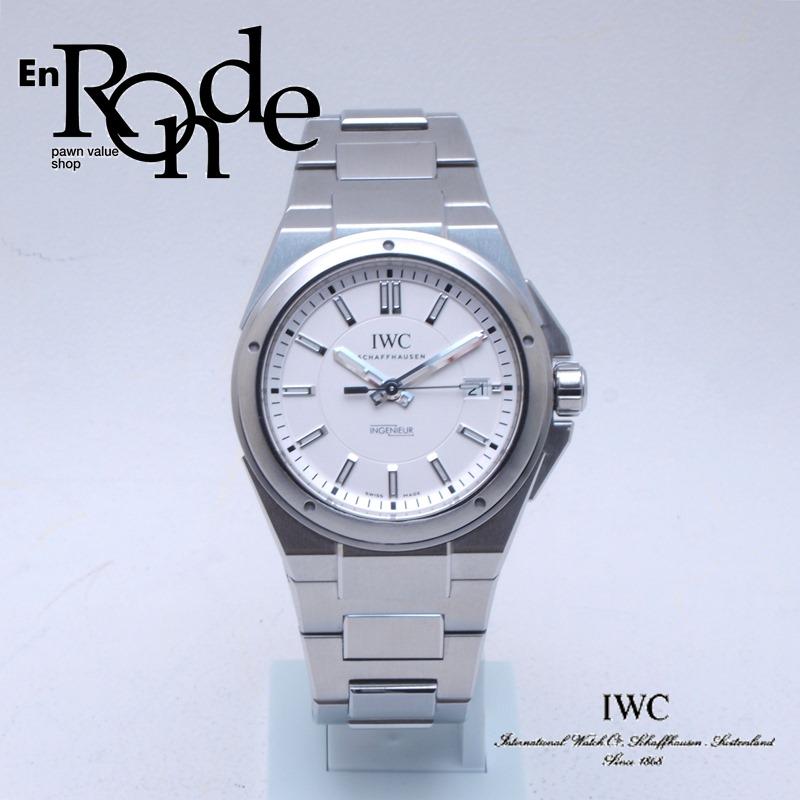 IWC メンズ腕時計 インヂュニア IW323904 SS ホワイト文字盤 中古 新入荷