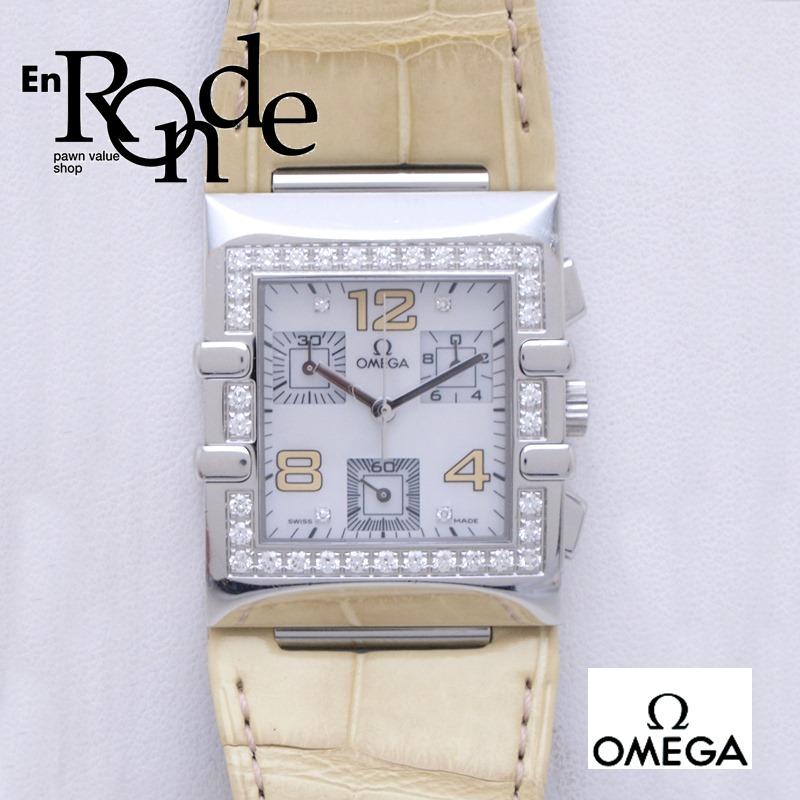 オメガ OMEGA レディース腕時計 コンステレーション カレ クアドラ SS/ダイヤ シェル文字盤 中古 新入荷 おすすめ