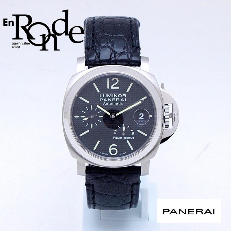 パネライ メンズ腕時計 ルミノールパワーリザーブ OP6767 SS/革 ブラック文字盤 中古 新入荷 おすすめ