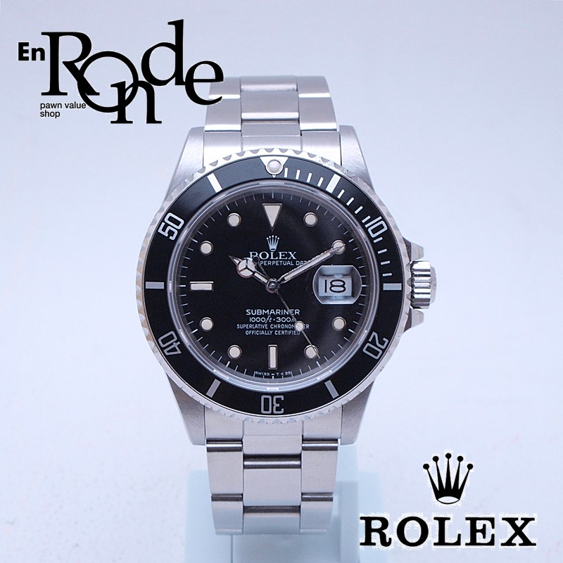 ロレックス ROLEX メンズ腕時計 サブマリーナ 168000 SS(ステンレス) ブラック文字盤 中古 新入荷 おすすめ