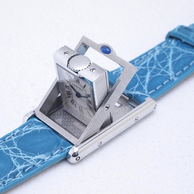 http://カルティエ%20Cartier%20レディース腕時計%20タンク・バスキュラント%20SS/革%20アイボリー文字盤%20中古%20新入荷%20おすすめ