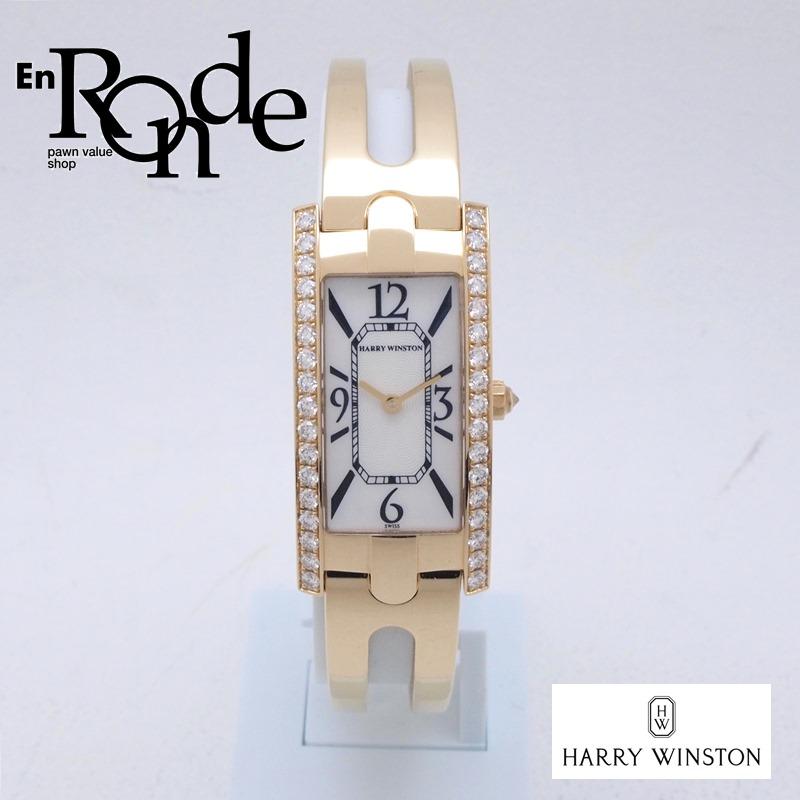 ハリーウィンストン レディース腕時計 アヴェニューC 330LQG K18/ダイヤ シェル文字盤 中古 新入荷 おすすめ