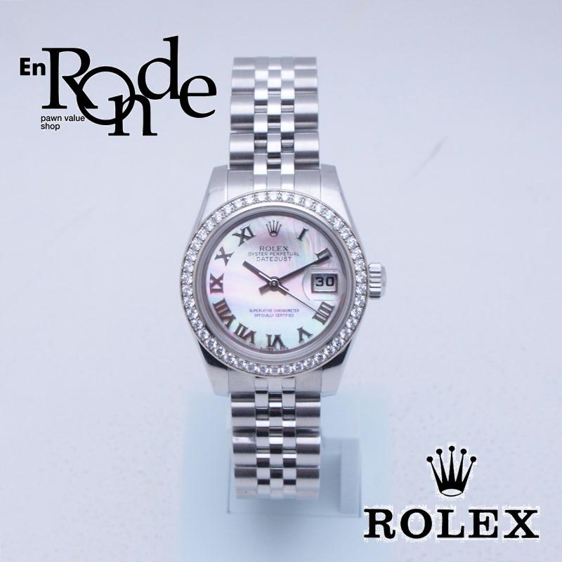 ロレックス ROLEX レディース腕時計 シェルローマン 179384NR SS/WG/ダイヤ シェル文字盤 中古 新入荷 おすすめ