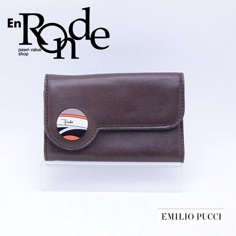 エミリオプッチ  財布 キーケース レザー ブラウン 中古 新入荷 おすすめ 新着