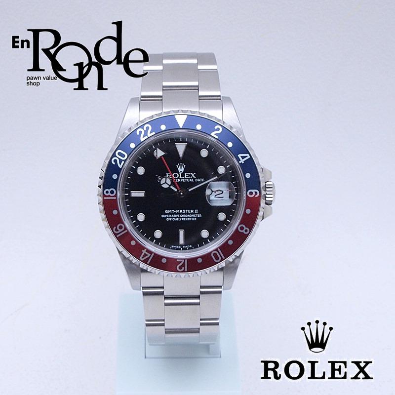 ロレックス ROLEX メンズ腕時計 GMTマスターII 16710 SS(ステンレス) ブラック文字盤 中古 新入荷 おすすめ
