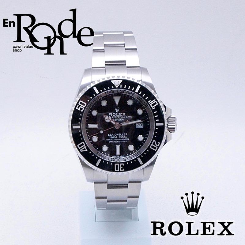 ロレックス ROLEX メンズ時計 シードウェラ 126660 SS(ステンレス) ブラック文字盤 中古