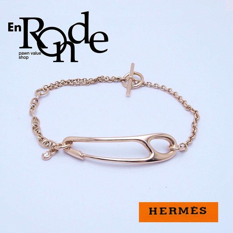 エルメス HERMES ブレスレットバングル ブレスレット シェーヌダンクルパンク K18PG/ダイヤ ピンクゴールド 中古