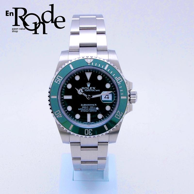 ロレックス ROLEX メンズ腕時計 サブマリーナ 116610LV SS(ステンレス) グリーン文字盤 中古 新入荷 おすすめ
