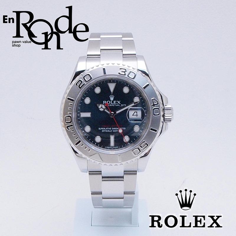 ロレックス ROLEX メンズ腕時計 ヨットマスター 116622 SS/Pt ブルー文字盤 中古