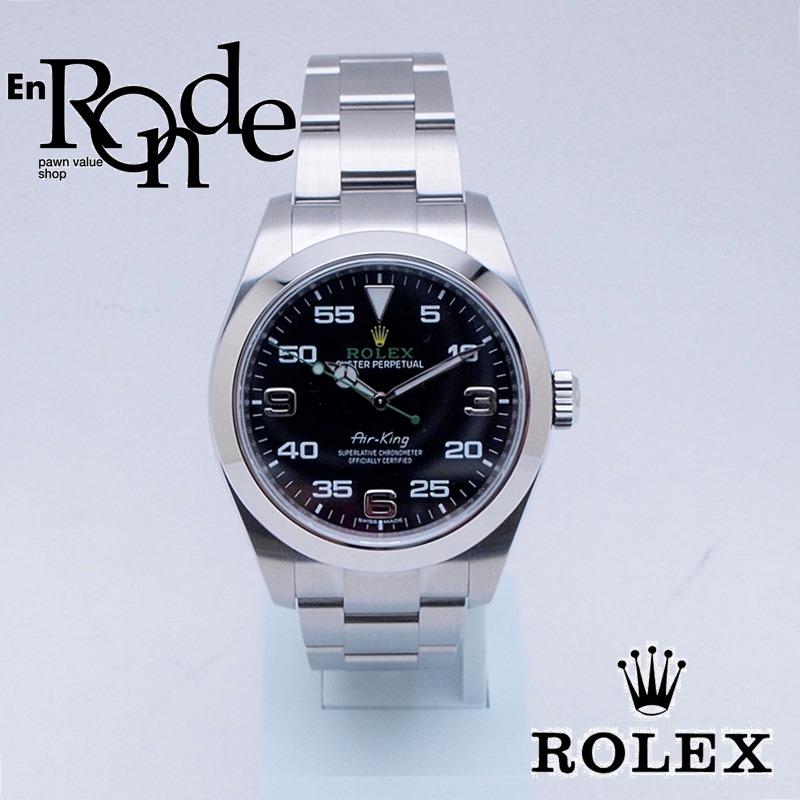 ロレックス ROLEX メンズ腕時計 エアキング 116900 SS(ステンレス) ブラック文字盤 中古