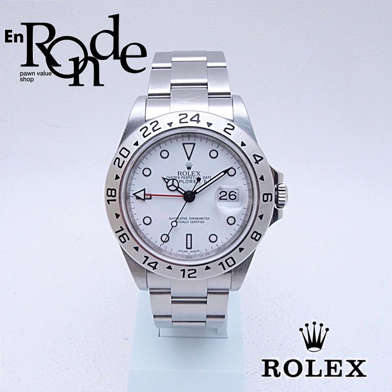 ロレックス ROLEX メンズ腕時計 エクスプローラーII 16570 SS(ステンレス) ホワイト文字盤 中古 新入荷 おすすめ