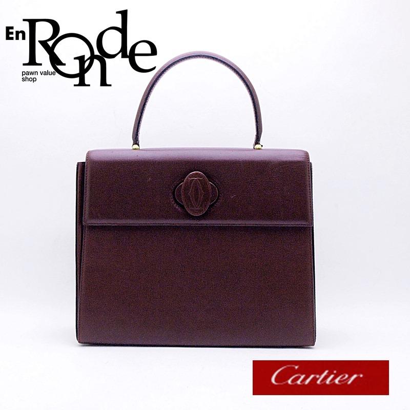 b59f61c94701 カルティエ Cartier ハンドバッグ ハンドバッグ マストターンロック レザー ボルドー 中古