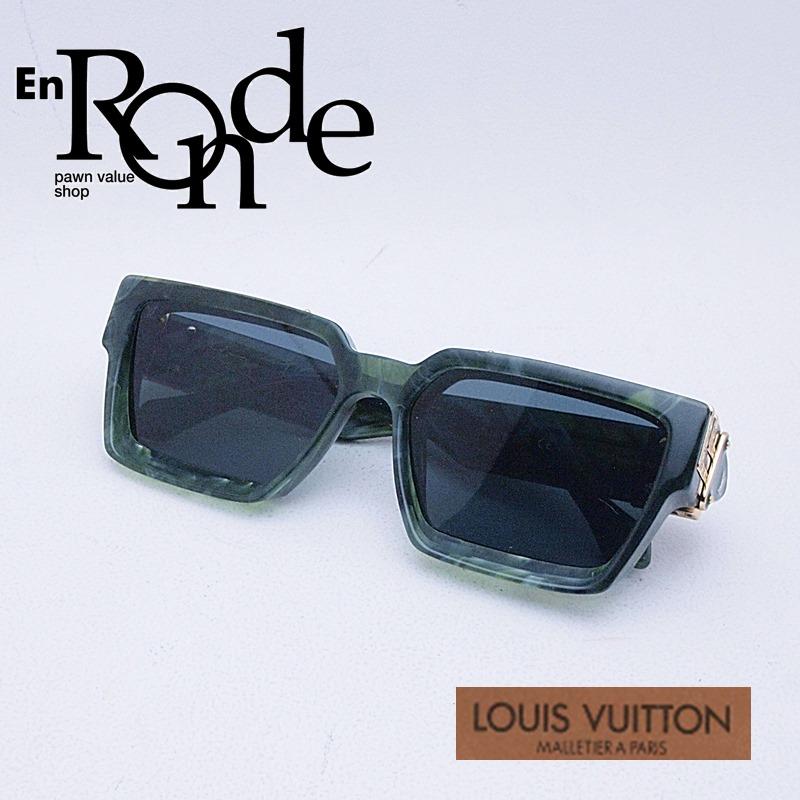 ルイ・ヴィトン LOUISVUITTON 小物アクセサリー サングラス ミリオネアー Z1167E プラスチック ネイビー系レンズ 中古