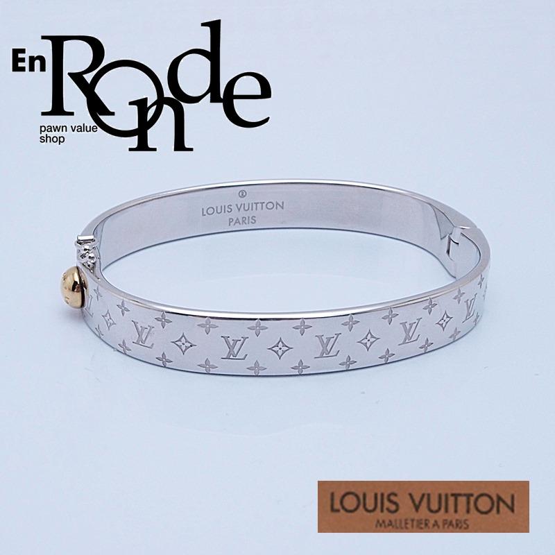 ルイ・ヴィトン LOUISVUITTON ブレスレットバングル ブレス カフ・ナノグラム M00250 シルバー色 中古