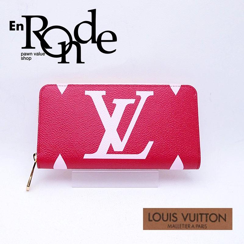 ルイ・ヴィトン LOUISVUITTON モノグラム 長財布 ジッピーウォレット ジャイアント M67550 コーティングキャンバス ルージュ 未使用品