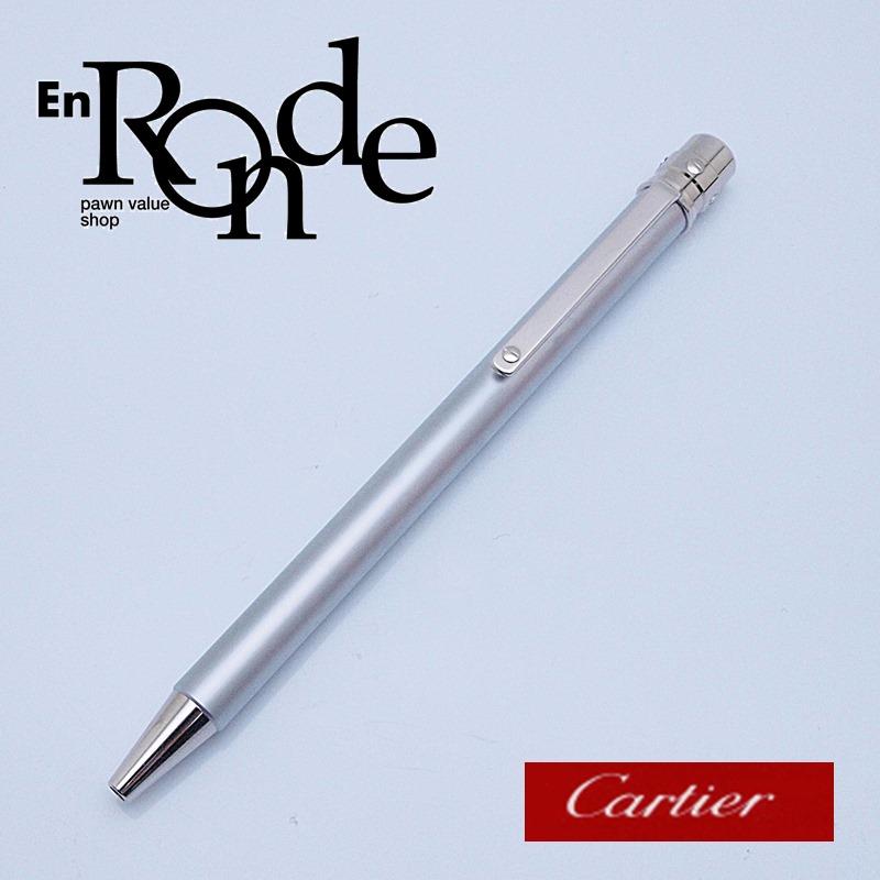 カルティエ Cartier 筆記具 ボールペン サントス シルバー色 新品同様