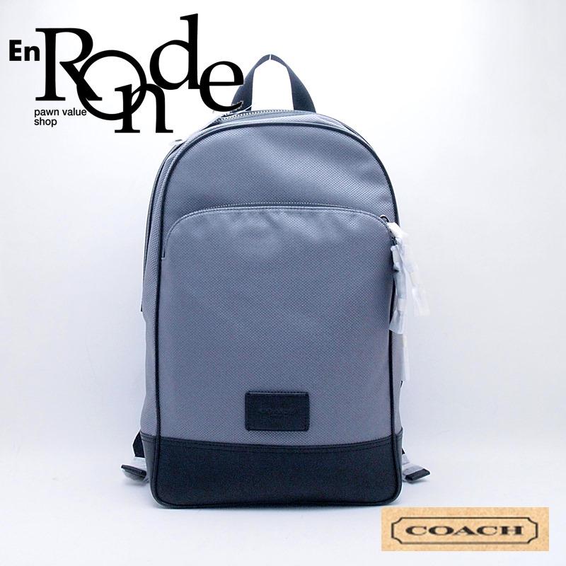 コーチ バッグ バックパック F37610 キャンバス/カーフ グレー/ブラック 新品同様