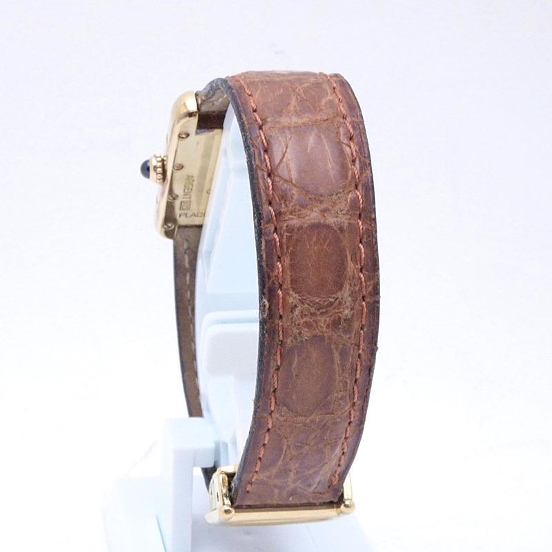 http://カルティエ%20Cartier%20レディース腕時計%20マストタンク%20ヴェルメイユ/革%20アイボリー文字盤%20中古