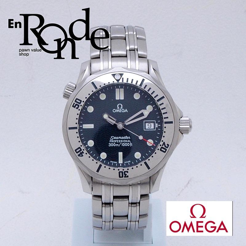 オメガ OMEGA メンズ腕時計 シーマスター 2562-80 SS(ステンレス) ネイビー文字盤 中古